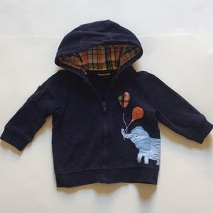 Other - Baby boy blue long sleeve top with hood.